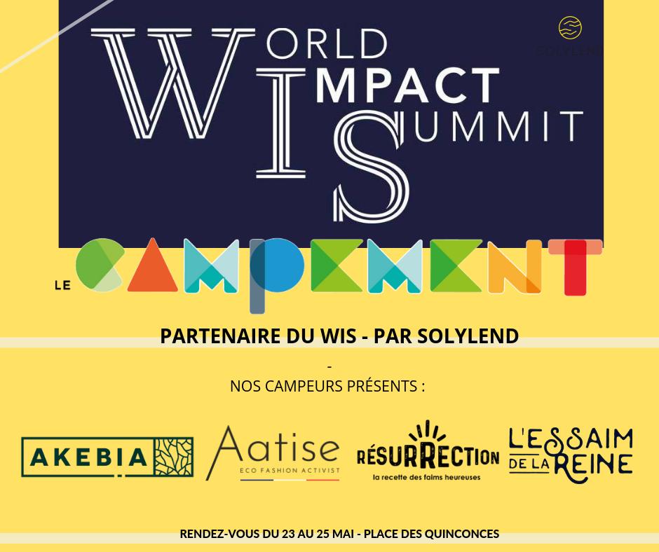 Le Campement partenaire du WIS par Solylend
